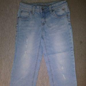 Justice Distressed Capri Jeans 14S EUC
